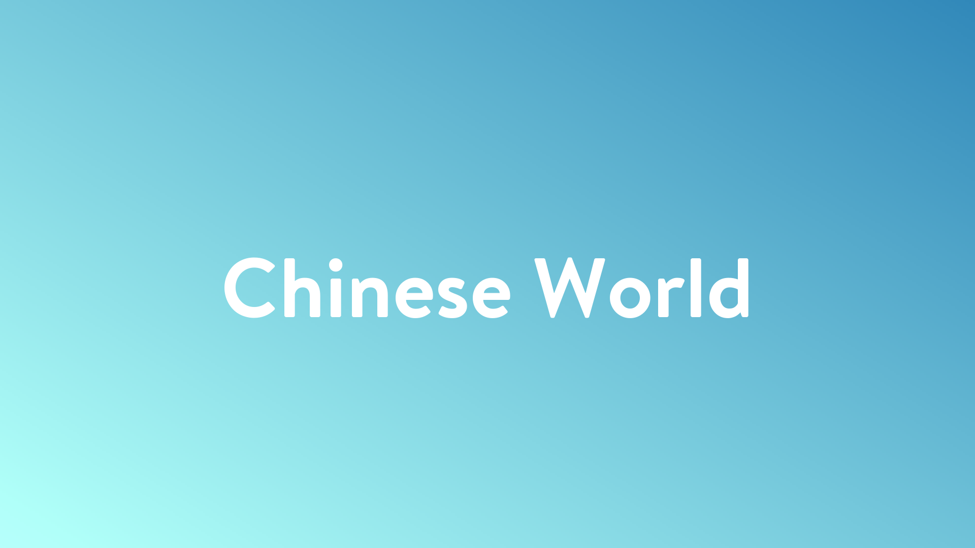Stream And Watch Chinese World Online | Sling TV