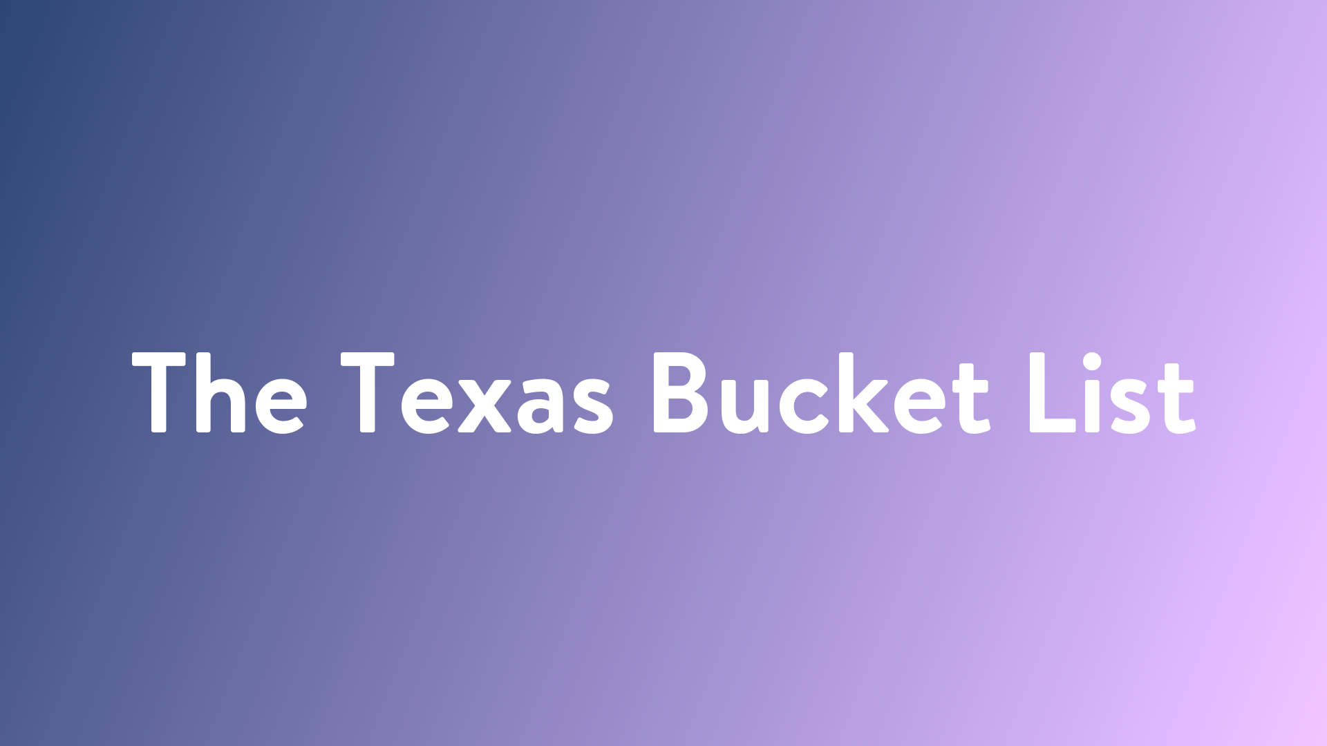 Stream And Watch The Texas Bucket List Online Sling Tv