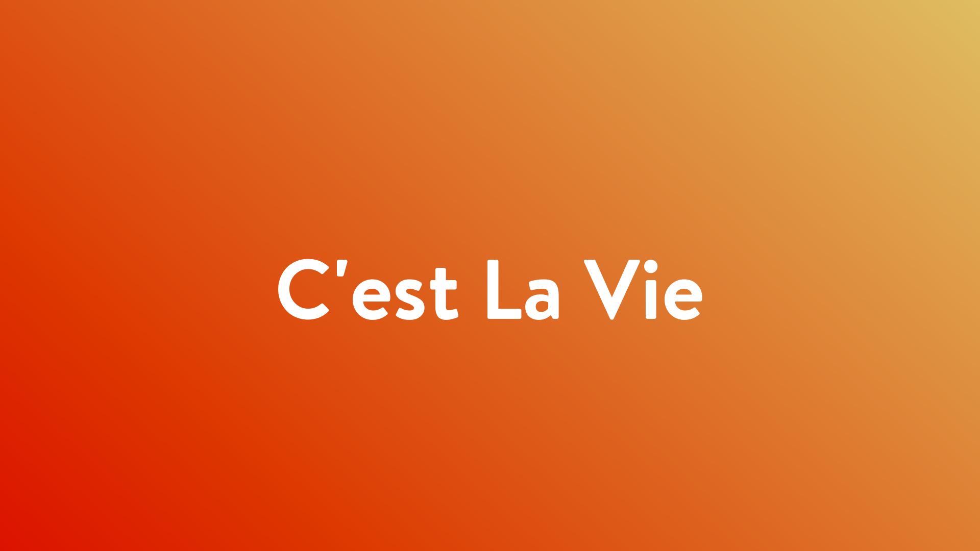 Stream And Watch C Est La Vie Online Sling Tv